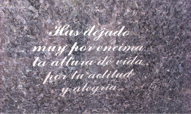 Escrituras expuestas de Elche | Inscripciones y placas en cementerios