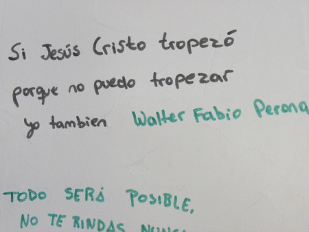 Este graffiti estampado en la pared, hace referencia a que si Jesucristo tuvo errores yo también tengo que tener, debido a que si el mismísimo Jesús de Nazaret tuvo, como […]