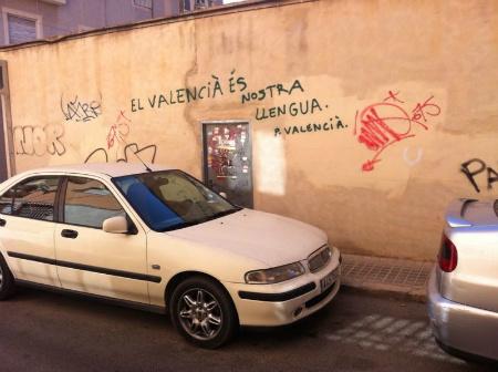 Graffiti aforístico. Carrer Fillet de Dins