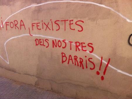 Foto tomada en el pasaje Portes de les Tafulles (Elche). Fecha: 29-11-2013