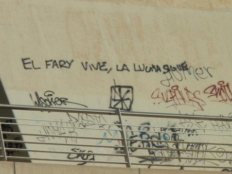 El graffiti destaca entre las firmas desordenadas de otros graffiteros. El Fary fue un cantante español de copla cuya época dorada fue en los años 60. Sus canciones reflejaban y […]