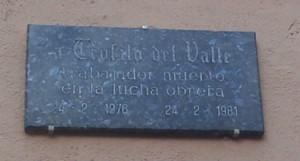 Placa Teófilo del Valle 1 - Arreglada
