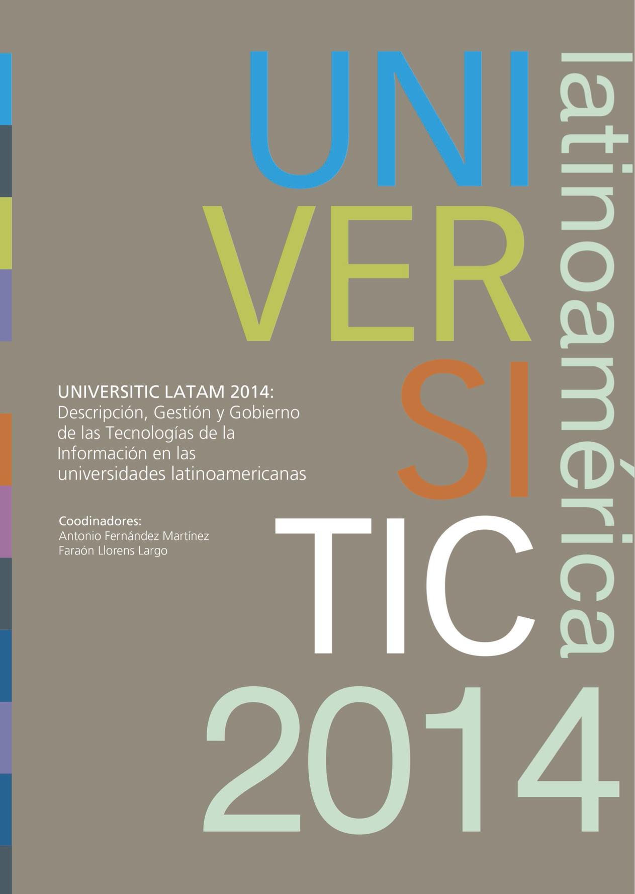 UNIVERSITIC LATAM 2014 portada