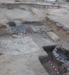Vista parcial de la excavación de 2014