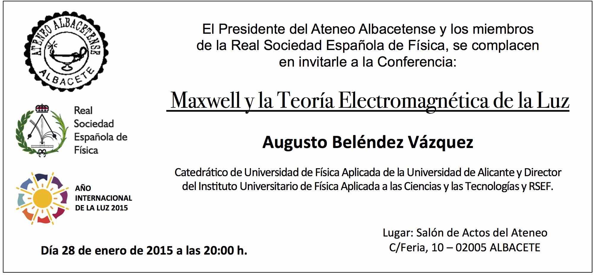 Conferencia-Maxwell-Ateneo-Albacete
