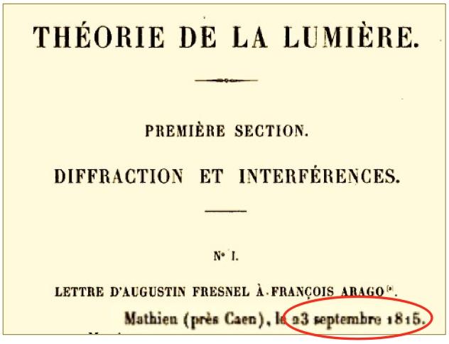 Theorie de la lumiere