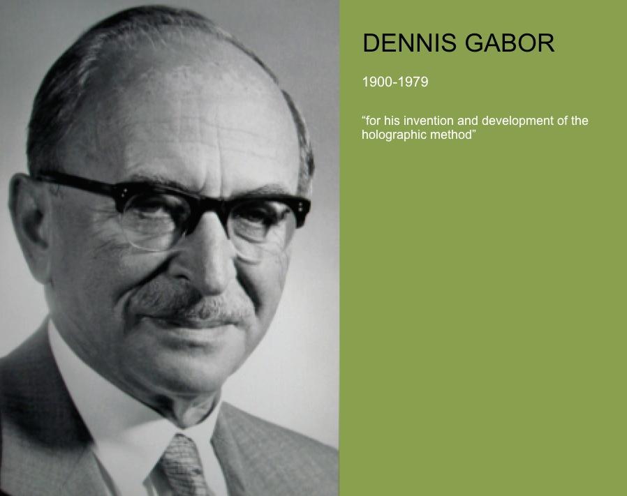 Dennis Gabor (1900-1979). Nobel Museum, Stockholm. Credit: A. Beléndez