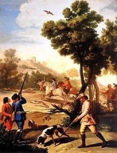 La caza de la codorniz por Goya [Google images]