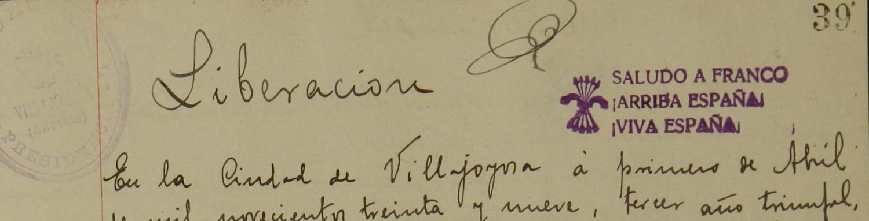 Villajoyosa en 1939-1940