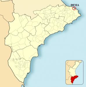 Situación geográfica Denia