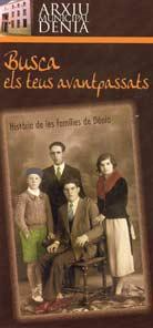 Folleto Busca els teus avantpassats Archivo Municipal de Denia