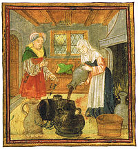 Mujer elaborando vino
