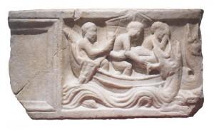Sarcófago paleocristiano de El Monastil. Pieza de la colección del museo
