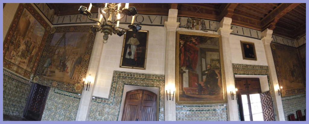 Interior del Palacio Ducal de Gandía.
