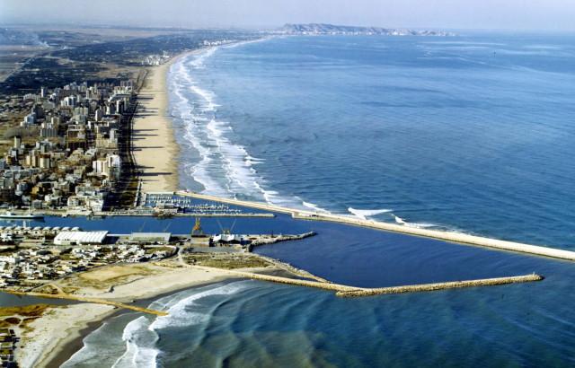 Panorámica de Gandía y sus playas.