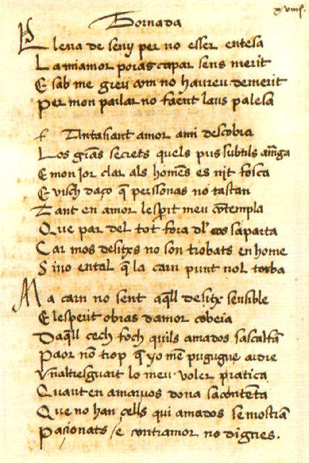 Poema de Ausiàs March.