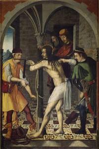 La Flagelación (hacia 1510) de Rodrigo y Francisco de Osona.