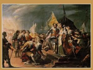 Desembarco en Valencia de Fernando el Católico y Germana de Foix - José Ribelles y Helip, Siglo XIX.