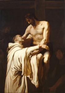 """""""Cristo abrazando a San Bernardo"""", Francisco de Ribalta."""
