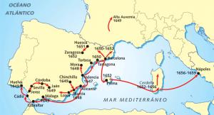 El itinerario de la peste en el siglo XVII