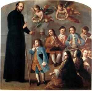 Sant Ignacio de Loyola instruint a un grup de xiquets
