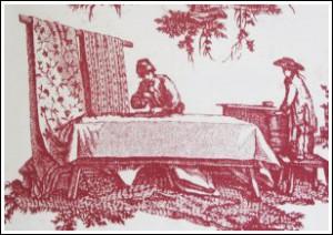 Gravat  d'un taller de seda