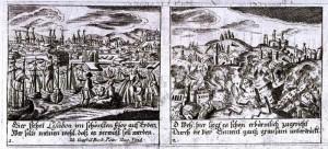 Gravat alemà, s. XVIII, sobre un terratrèmol al 1755.