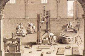Fabricación de papel en la Baja Edad Media (siglos XI al XIII).