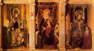 Calixto III encargó a Pere Reixach en 1452 un retablo para la capilla de Santa Ana, situada en el interior de la Seu de Xátiva.