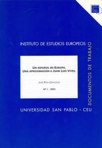 Un español en Europa. Una aproximación a Juan Luis Vives.