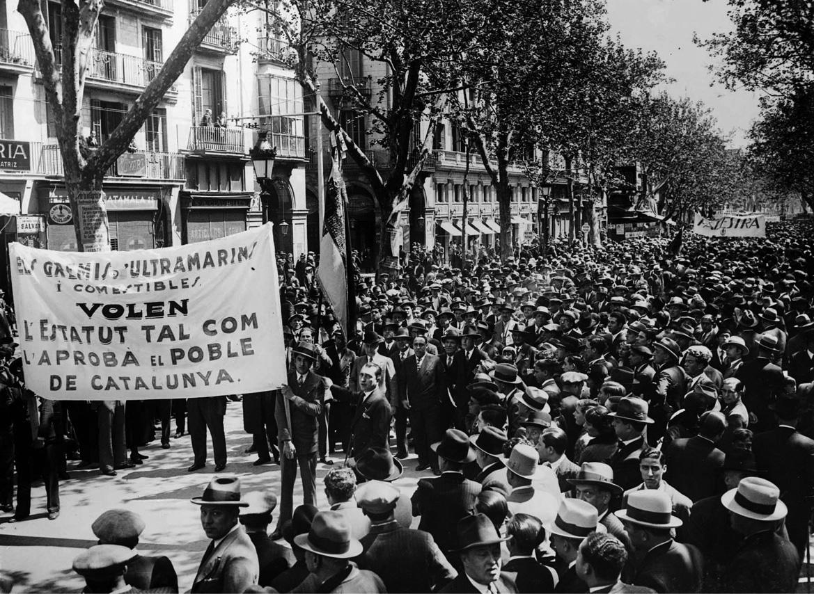 Manifestació a Barcelona, 24 d'abril 1932