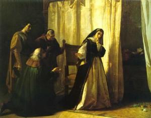La Demencia de Doña Juana (1867), de Lorenzo Vallés. Museo del Prado (Madrid).