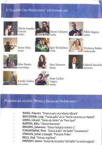 Programa Concierto Rirmos y Danzas Mediterraneo