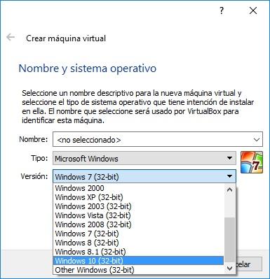 Virtualbox en Win10