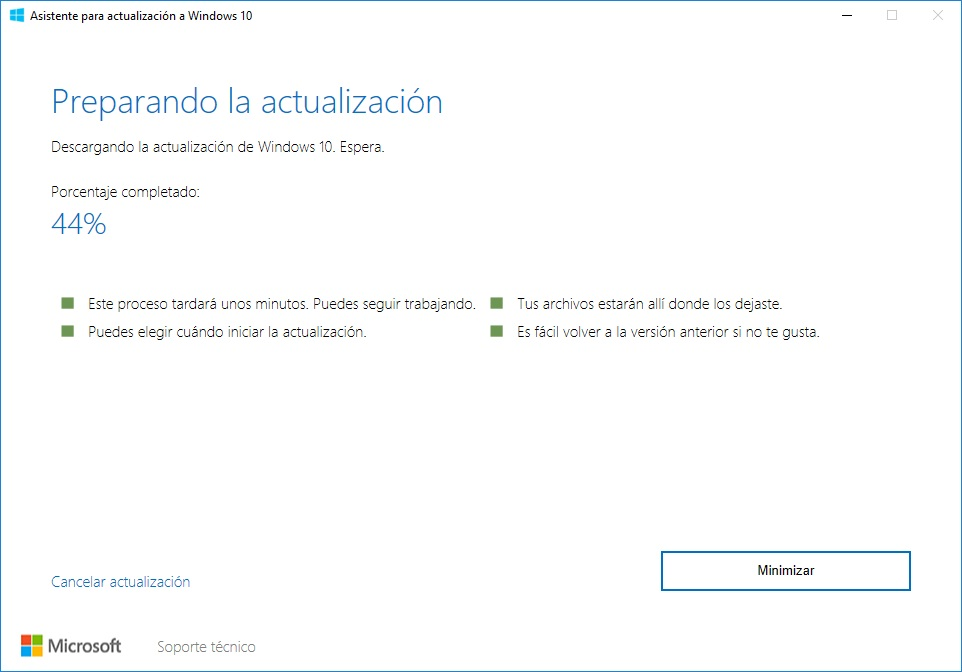 Actualització de Windows 10