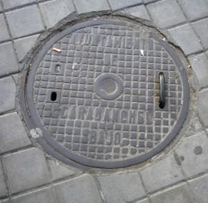 Tapa de alcantarilla circular