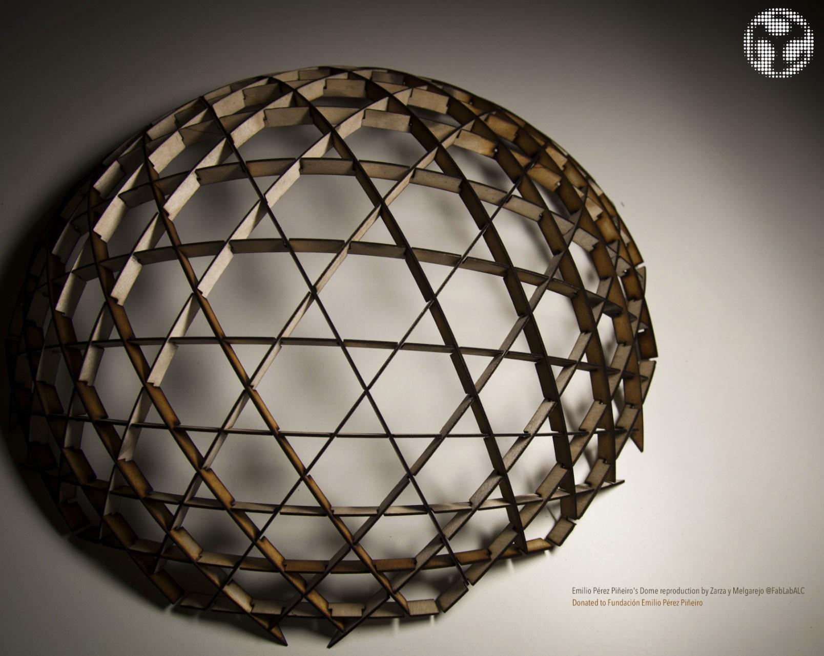 Reproducción de la cúpula proyectada por Emilio Pérez Piñeiro para el velódromo Anoeta
