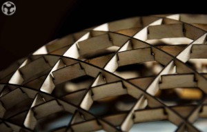 Detalle de la reproducción de la cúpula de Pérez Piñeiro realizada por Zarza y Melgarejo