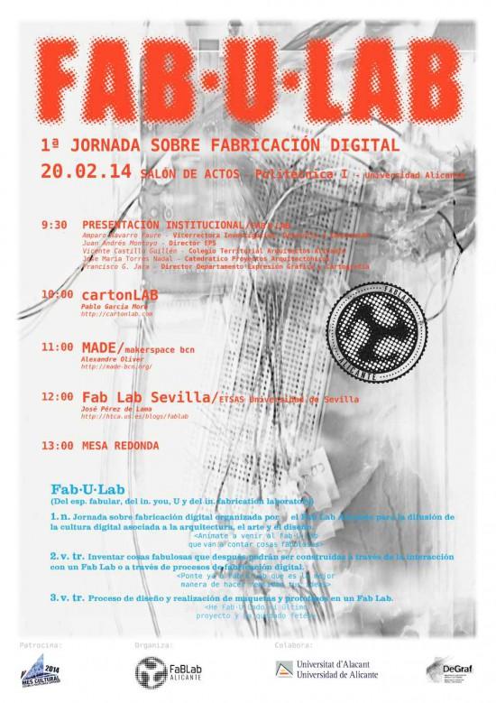 Póster de la Jornada sobre Fabricación digital del FabLabALC