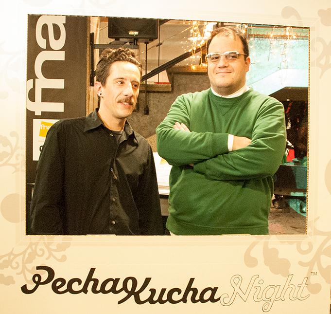 Foto de Juan Carlos del FabLab Alicante en el evento Pechakucha