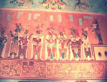 La pintura mural maya en los mayas for El mural de bonampak