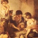 niños mendigos jugando