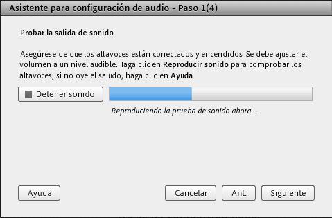 Paso 1 - Probar la salida de audio
