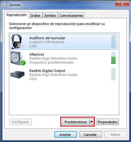 Predeterminar un dispositivo de reproducción de audio
