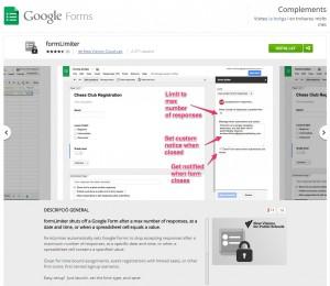Limita els formularis de Google Drive