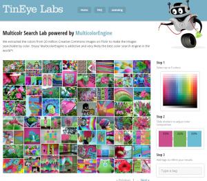 Busca imatges segons els colors