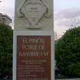Esta fotografía se realizó el pasado 12 de diciembre de 2013, en la que podemos observar una placa bajo del escudo de Pinoso. Este monumento se encuentra en la […]
