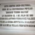 """Esta fotografía se hizo el día 7 de Enero de 2014, y pertenece a una placa de dentro de la Casa de Cultura """"Enrique Tierno Galván"""". En ella está […]"""