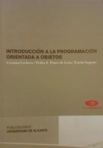 Portada del libro 'Introducción a la programación orientada a objetos'