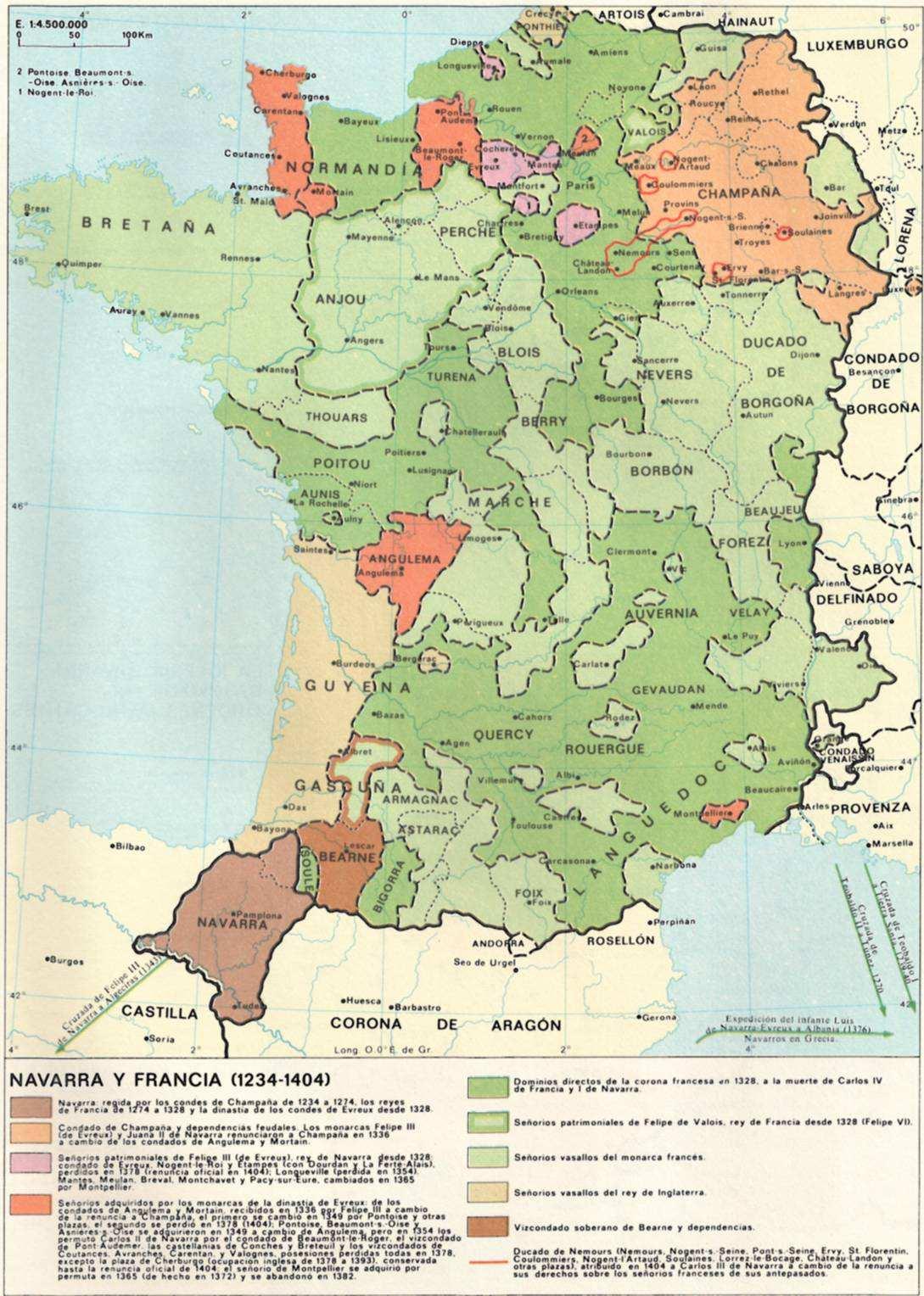 Categor 237 a edad media mapa navarra y francia 1234 1404